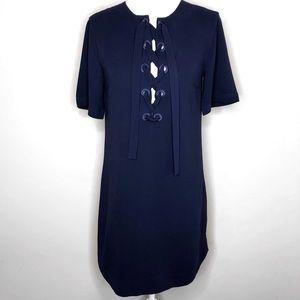 Club Monaco Blue Cross Front Dress